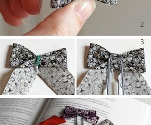 diy, bow, and book image