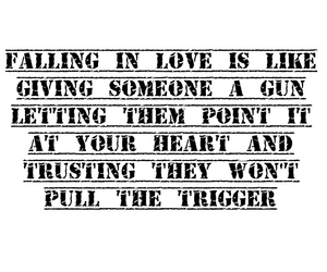 quote, falling, and gun image