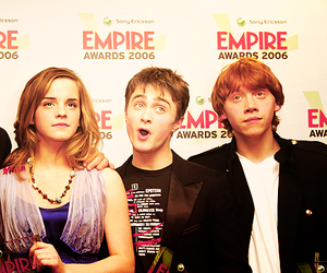 daniel radcliffe, the golden trio, and emma watson image