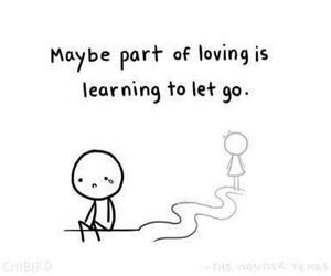 love, loving, and sad image