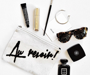 chanel, makeup, and sunglasses image