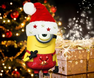 minions, christmas, and presents image