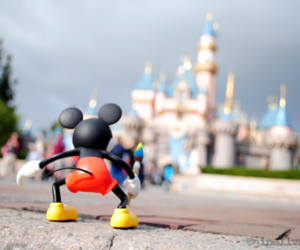 castle, mickey mouse, and focus image