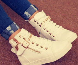 shoes, white, and sneakers image