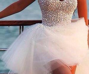 beautiful, diamonds, and wedding dress image