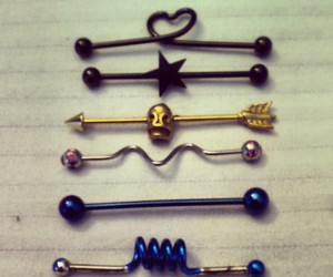 piercing, cool, and heart image