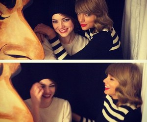 Taylor Swift, emma stone, and friends image