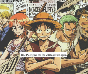 one piece, quote, and text image