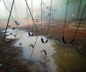 mist, swing, and swings image
