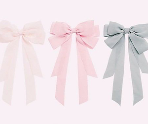 ribbon, pink, and cute image