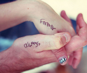 always, forever, and couple image