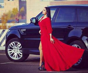 car, girl, and dress image
