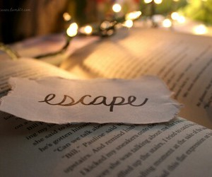 book, escape, and lights image