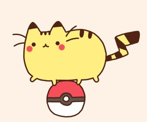 pokemon, pikachu, and pusheen image