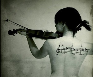 girls, instrument, and music image