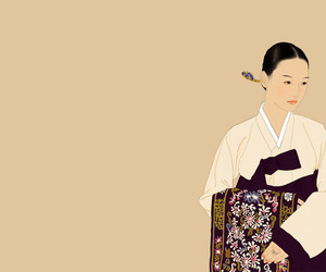 hanbok, korea, and painting image