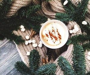 christmas tree, snow, and winter image