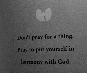 god, harmony, and pray image