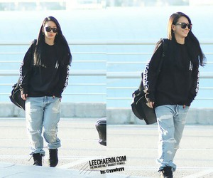 2ne1, airport, and CL image