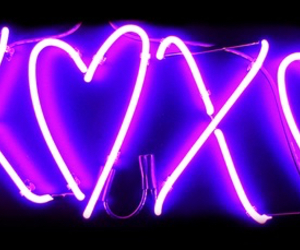xoxo, purple, and neon image