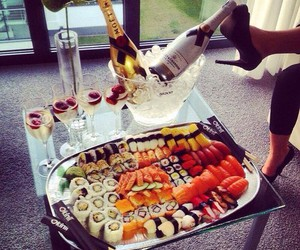 sushi, luxury, and food image