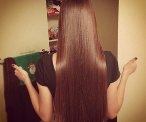 hair, brown, and straight image