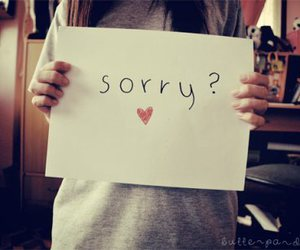 sorry, heart, and text image