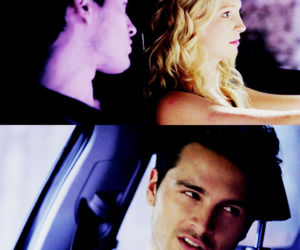 enzo, caroline, and the vampire diaries image