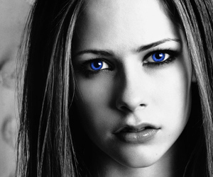 Avril, beautiful, and blue image