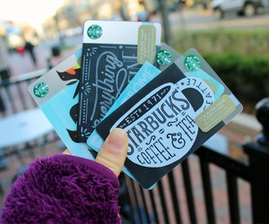 starbucks, tumblr, and cards image