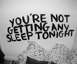 quote, sleep, and tonight image