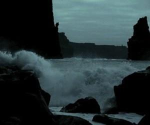 gif, sea, and waves image