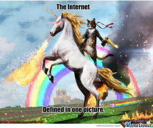 cats, funny, and unicorn image