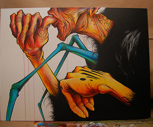 alex pardee, monsters, and amazing image