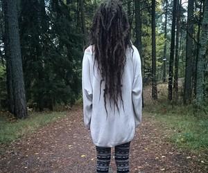 black hair, dreadlocks, and dreads image