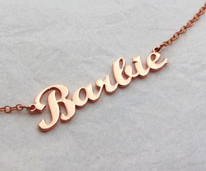 barbie, gold, and neklace image