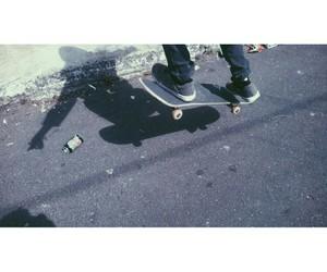 skate, skateboarder, and skateboarding image