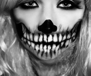 makeup and skeleton image