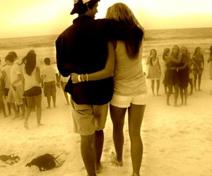 beach, couple, and free image