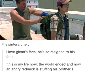 dead, glenn, and walking image