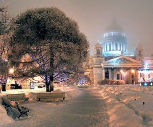 Saint-Petersburg and winter image