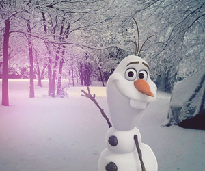 snow, disney, and frozen image