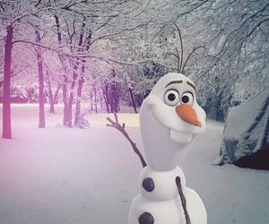 snow, disney, and frozen image