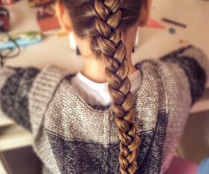 braids, girl, and hair image