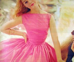 pink, dress, and girl image