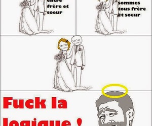 humour, mariage, and frere image
