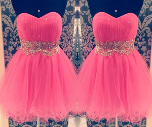 dress, beautiful, and pink image