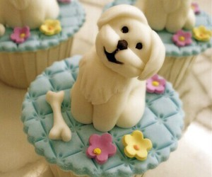 cupcake and dog image