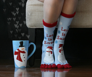 christmas, socks, and snow image