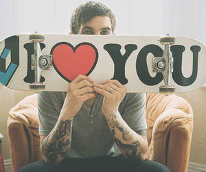 I Love You and boy skater image